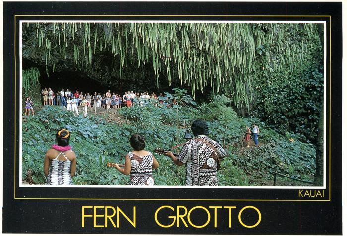 Fern Grotto - Island of Kauai, Hawaii - Exotic Green Jungle