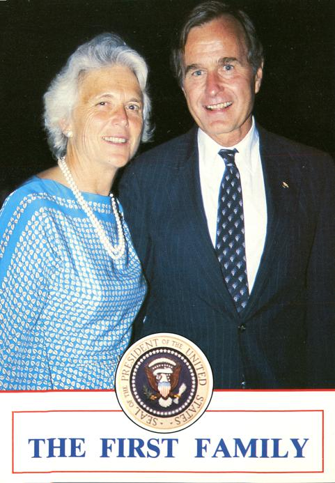 The First Family - Barbara and President George W. Bush