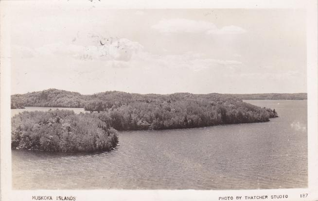 RPPC Muskoka Islands, Ontario, Canada - Photo by Thatcher Studio - Real Photo