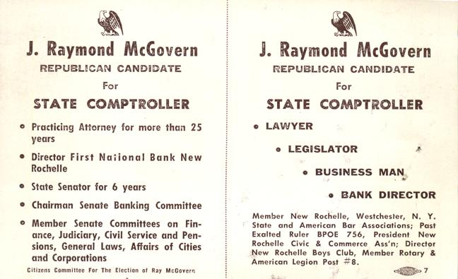 Raymond McGovern - Political Candidate for State Comptroller from Westchester County, New York