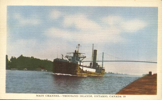 Main Channel - Thousand Islands - Ontario, Canada - Linen Card