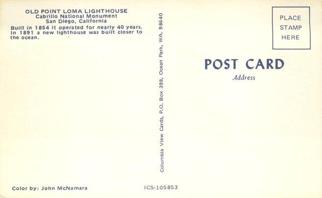Old Point Loma Lighthouse - San Diego, California