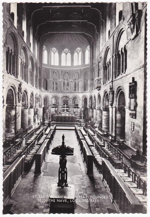 The Nave at St Bartholomew Church - London, England