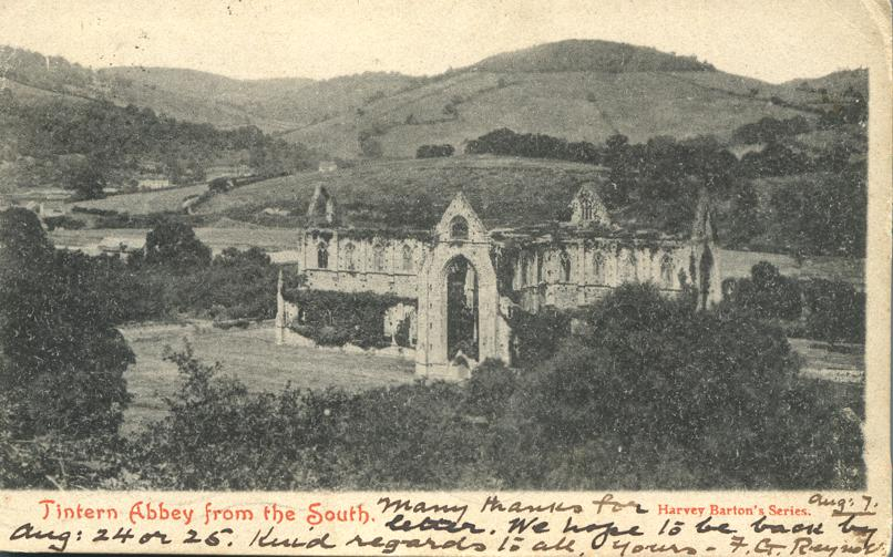 Tintern Abbey from the South - Wales, United Kingdom - pm 1905