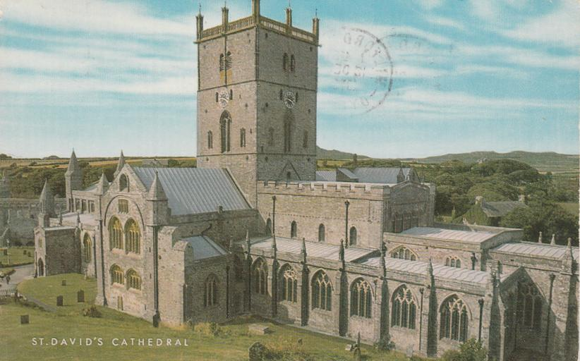 St David's Cathedral - Wales, United Kingdom - pm 1975 at Milford Haven