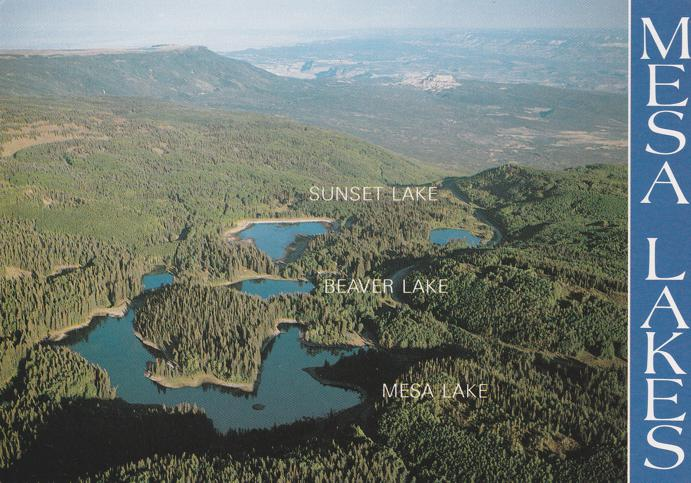Sunset Beaver and Mesa - Mesa Lakes Area, Colorado