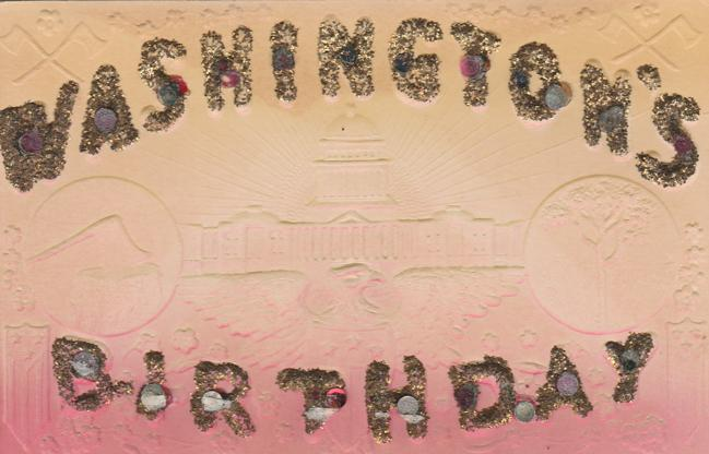 Washington's Birthday President's Day - Large Letter - Divided Back