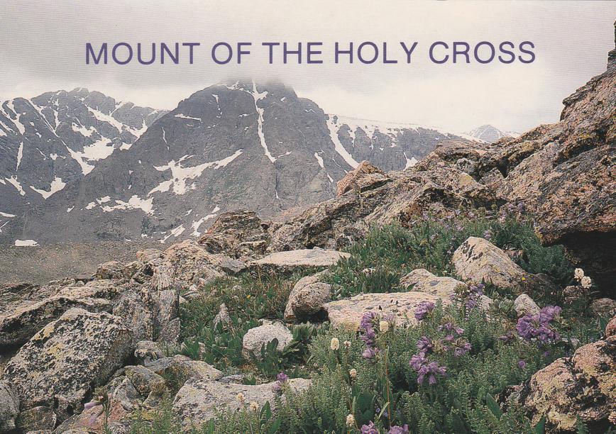 Mount of the Holy Cross, Colorado - Cross like snow pattern