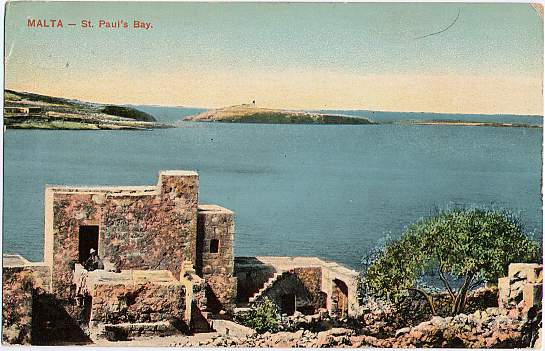 St. Paul's Bay Malta - Mediterranean Sea - pm 1910
