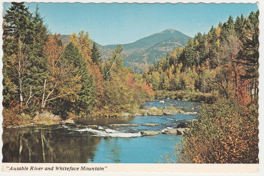Whiteface Mountain above Ausable River - Adirondack Mountains, New York