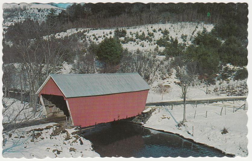 Winter at East Bethel, Vermont Covered Bridge