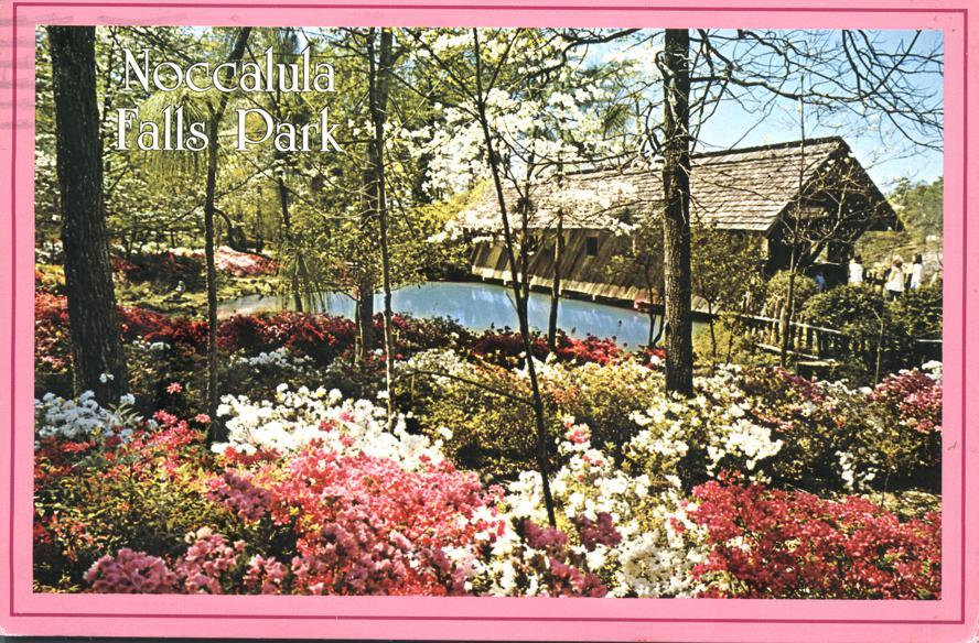 Gilliland Covered Bridge - Noccalula Falls Park - Gadsden, Alabama - pm 1990 at Huntsville