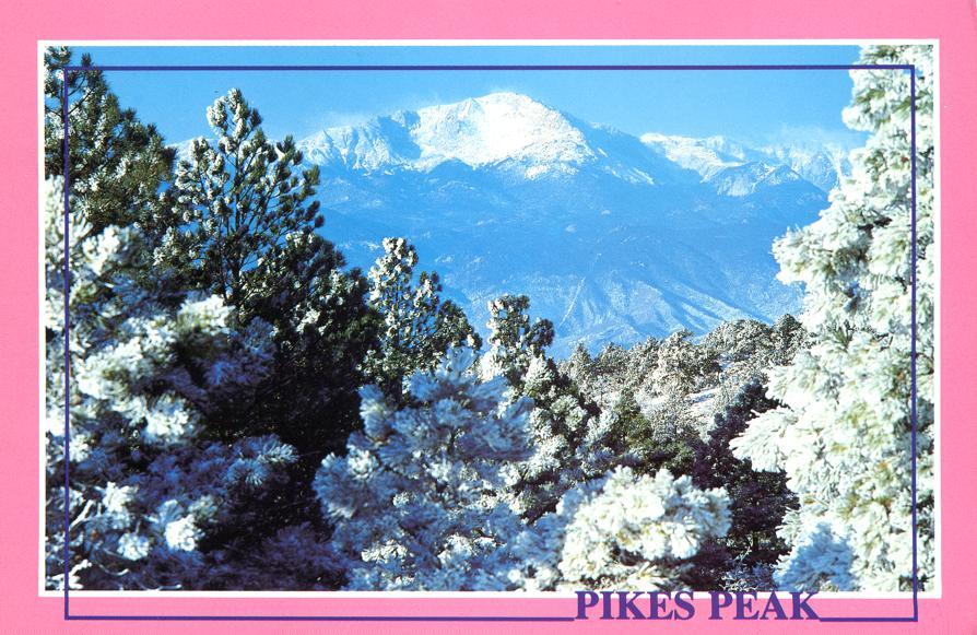 Winter View of Pikes Peak, Colorado