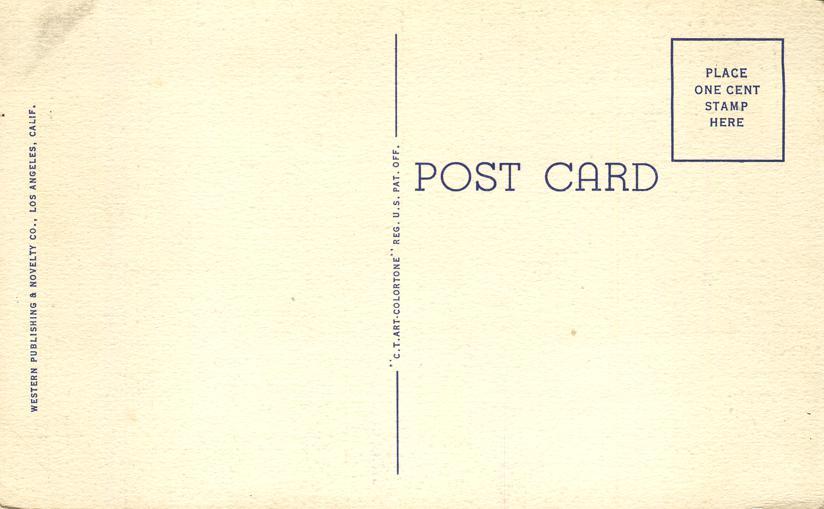 Out Where the West Begins - Pem by Arthur Chapman - Linen Card