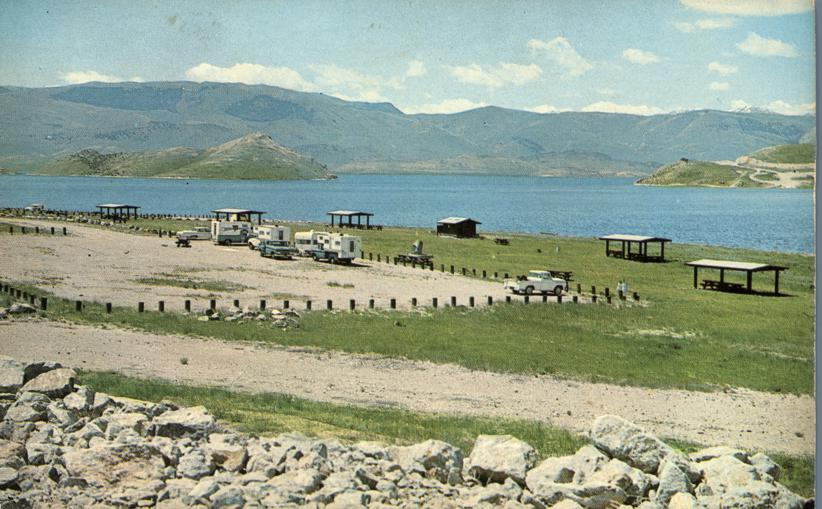 Campground at Hap Hawkins Reservoir near Dillon, Montana
