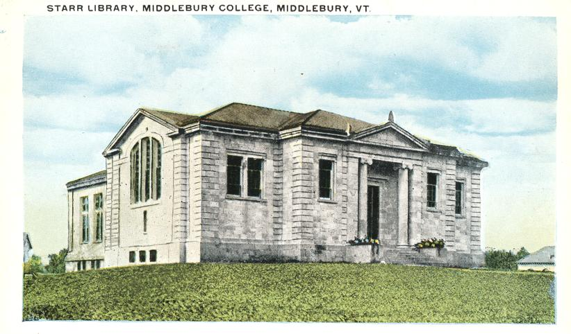 Middlebury College Library Starr Library at Middlebury