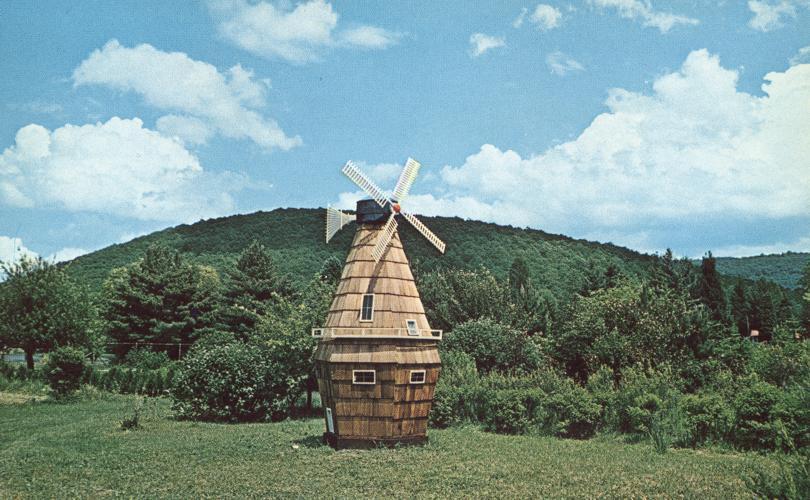 Windmill near Smallest Church on US Rt 219 - Horse Shoe Run, West Virginia