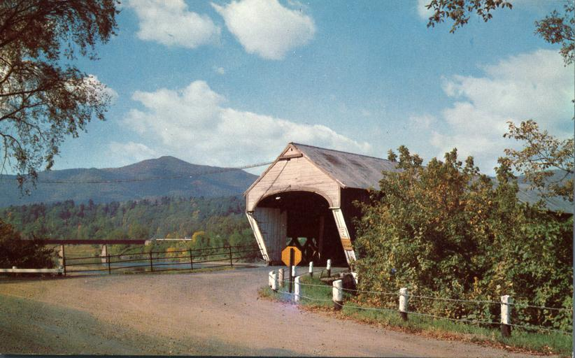 Covered Bridge - View of Mt Ascutney, Vermont