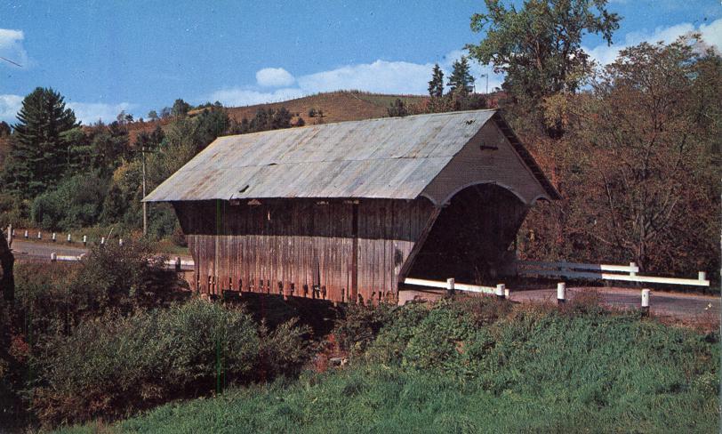 Covered Bridge over Passumpsic River, Vermont