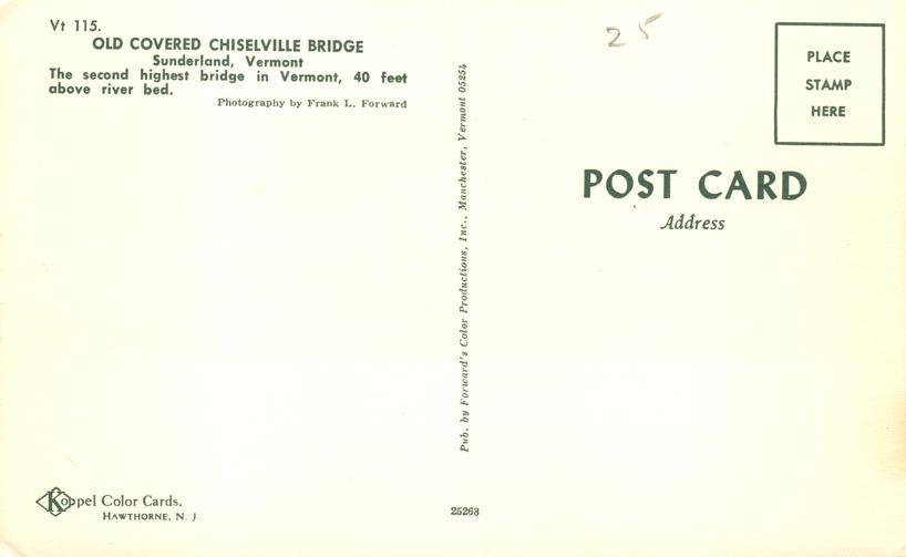 Chiselville Covered Bridge - Sunderland, Vermont