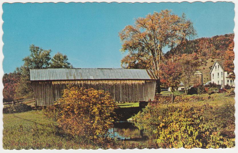 Howe Covered Bridge at Tunbridge Vermont