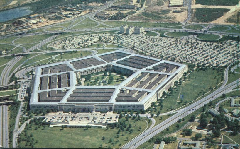 The Pentagon Building in Arlington, Virginia