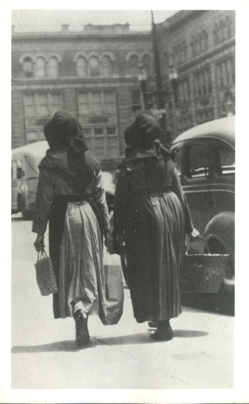 RPPC Ladies - Nuns Walking - Real Photo
