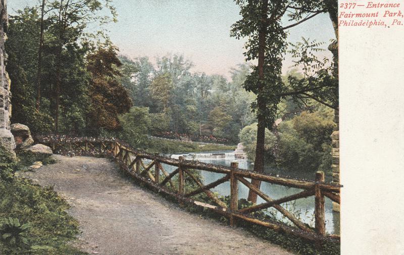 Entrance to Fairmont Park - Philadelphia, Pennsylvania - Undivided Back
