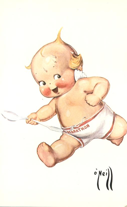 Rose O'Neill Kewpie Doll Reproduction - Marathon Runner