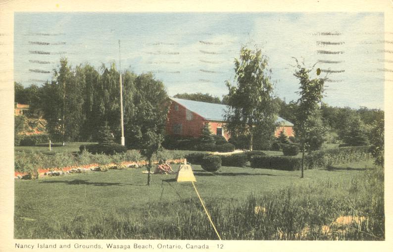 Nancy Island and Grounds - Wasaga Beach, Ontario, Canada - pm 1952