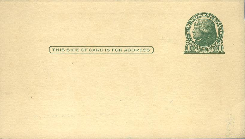 We Missed You Last Sunday - Printed on postal card
