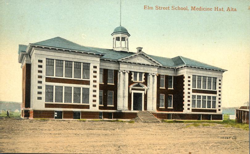 Elm Street School - Medicine Hat, Alberta, Canada - Divided Back