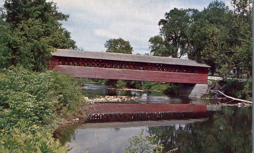 Covered Bridge over Walloomsac River - Bennington, Vermont
