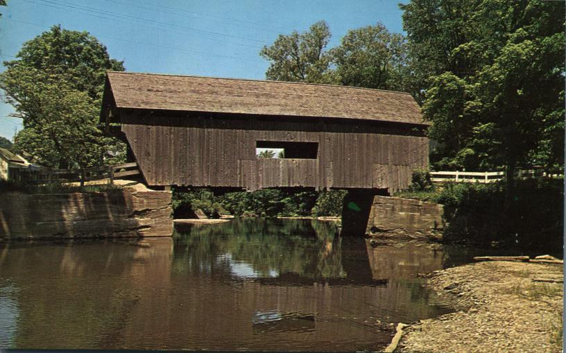Mad River Covered Bridge at Warren, Vermont