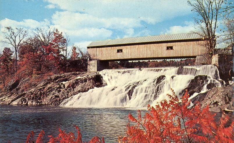 Fall Foliage at White River Junction, Vermont Covered Bridge