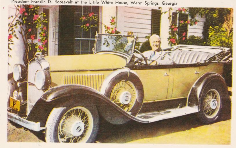 FDR - Roosevelt in Special Automobile - Warm Springs, Georgia