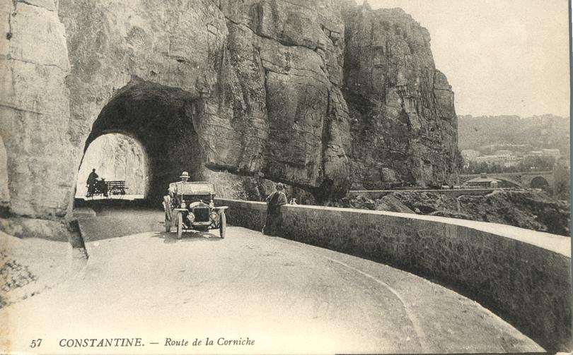 Driving on the Corniche Road - Constantine, Algeria - Divided Back