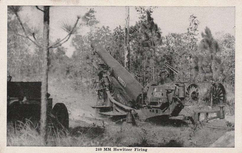 240 MM Howlitzer Firing - WWII - Military