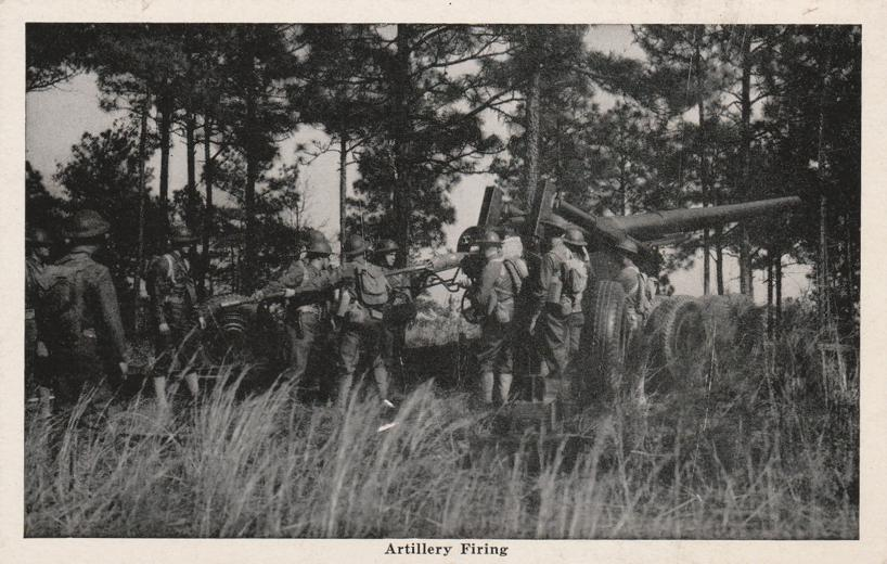 Troops Firing Artillery - Military - WWII