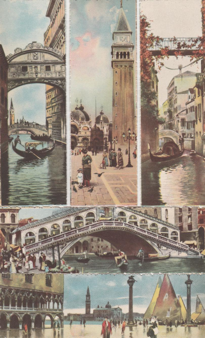 (5 cards) Venice Venezia, Italy - Bookmark Style - Scenes - Divided Back
