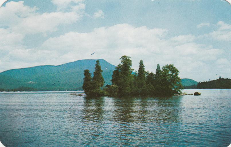 An Island in Blue Mountain Lake - Adirondack Mountains, New York