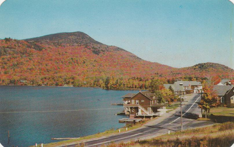 Fall View at Blue Mountain Lake - Adirondack Mountains, New York