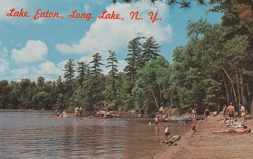 Beach at Lake Eaton near Long Lake - Adirondack Mountains, New York