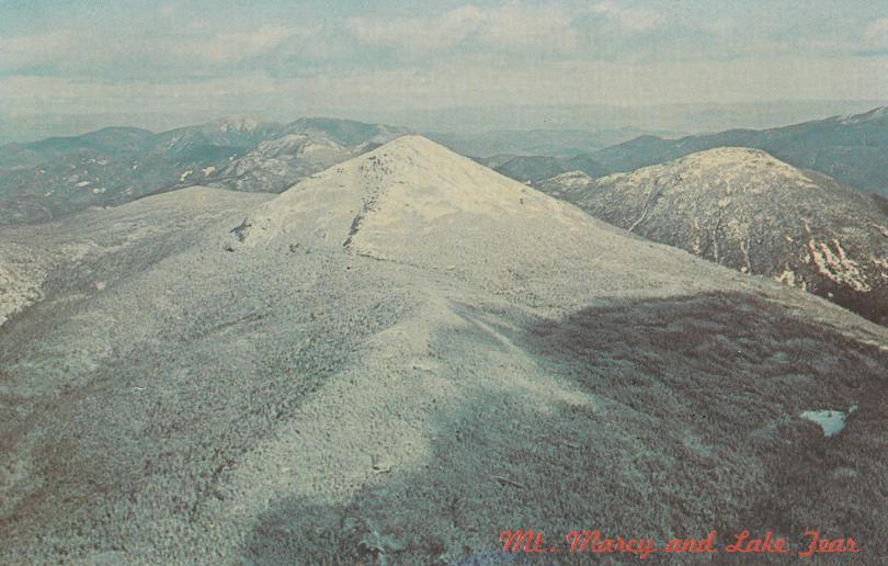 Mt Marcy and Lake Tear - Adirondack Mountains, New York - pm 1966 at Cohoes