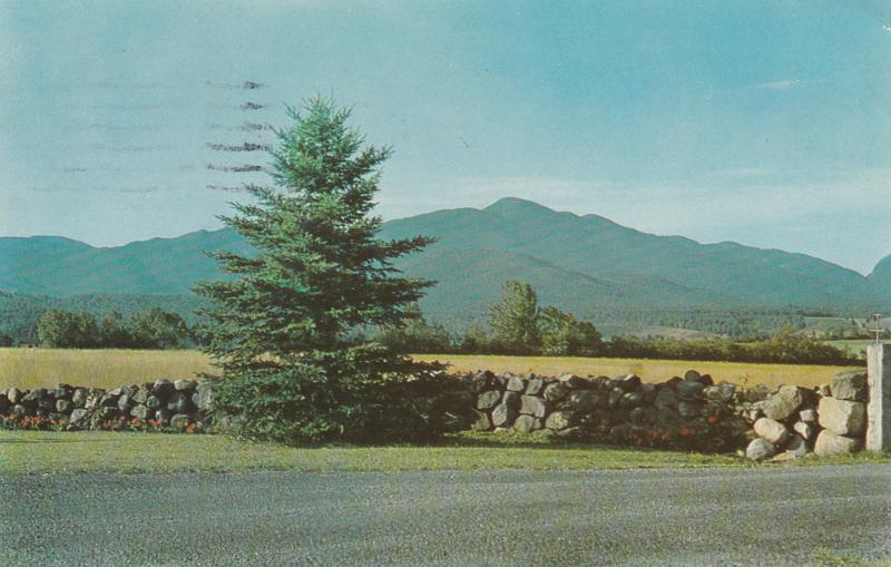 Mt Marcy and High Peaks from Lake Placid - Adirondack Mountains, New York - pm 1961