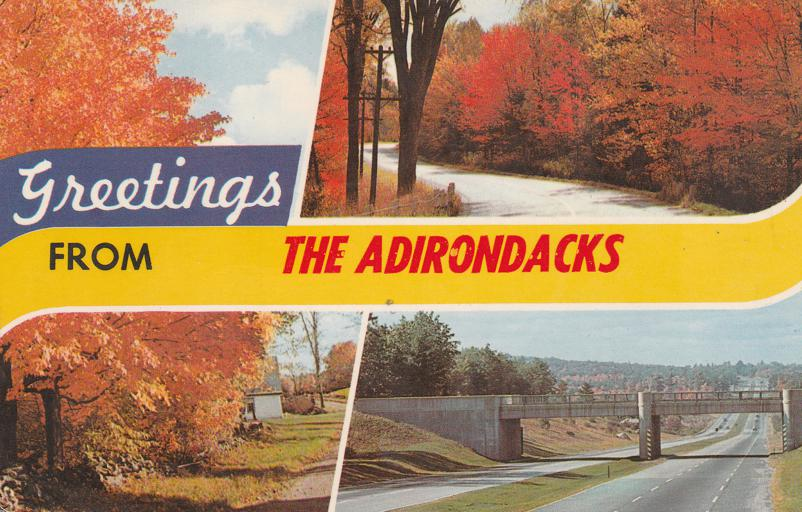 Greetings from the Adirondack Mountains, New York - pm 1970 at Burlington VT