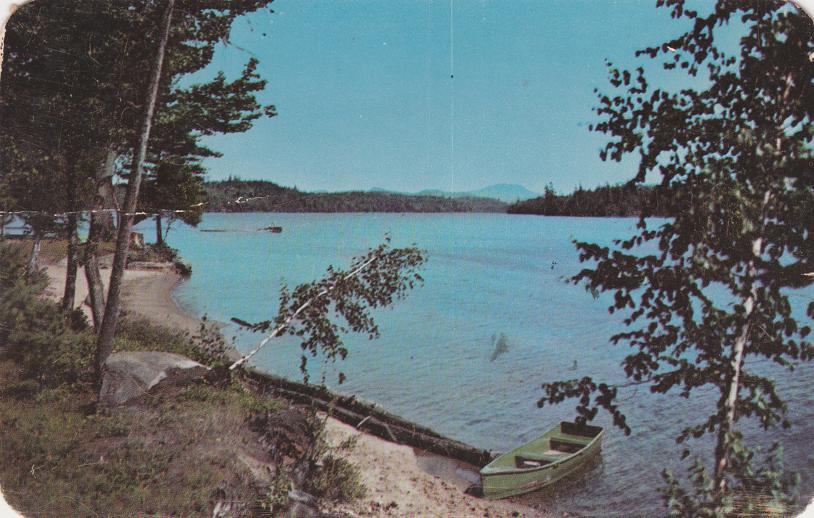 Raquette Lake from Antlers Hotel - Adirondack Mountains, New York - pm 1959 at Blue Mountain Lake