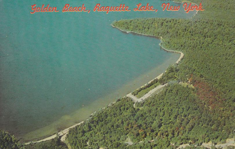 Aerial View of Golden Beach on Raquette Lake - Adirondack Mountains, New York