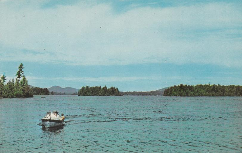 Boating on Raquette Lake - Adirondack Mountains, New York