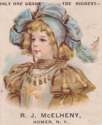 McElheny Pianos - Victorian Trade Card - Homer, New York